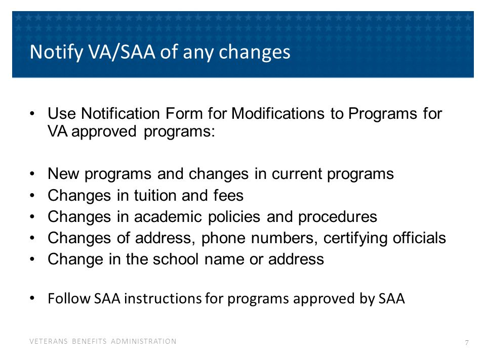 Keep Informed of VA Rules & Policies