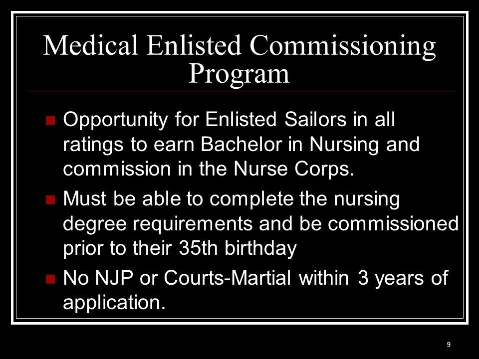 Medical Enlisted Commissioning Program
