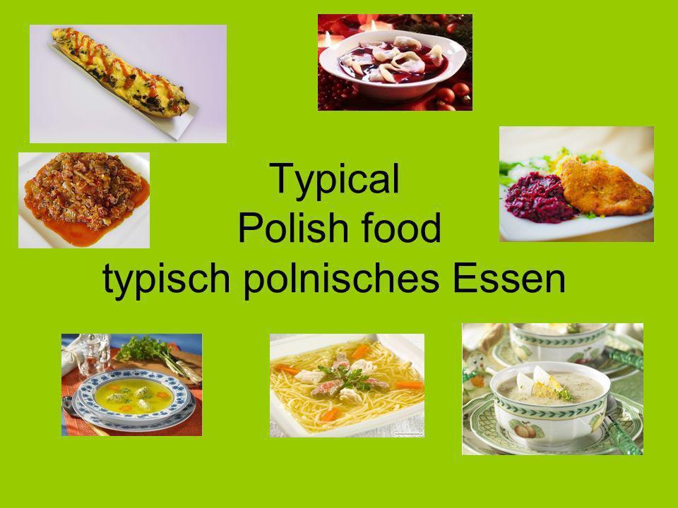 Typical Polish food typisch polnisches Essen