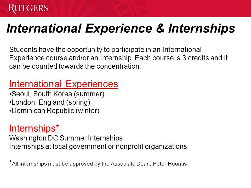International Experience & Internships