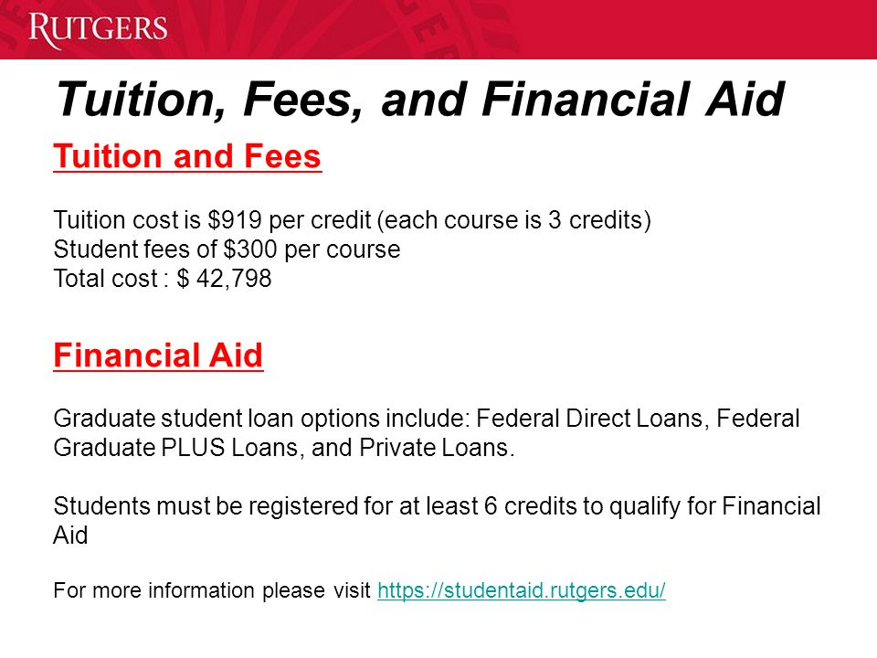 Tuition, Fees, and Financial Aid