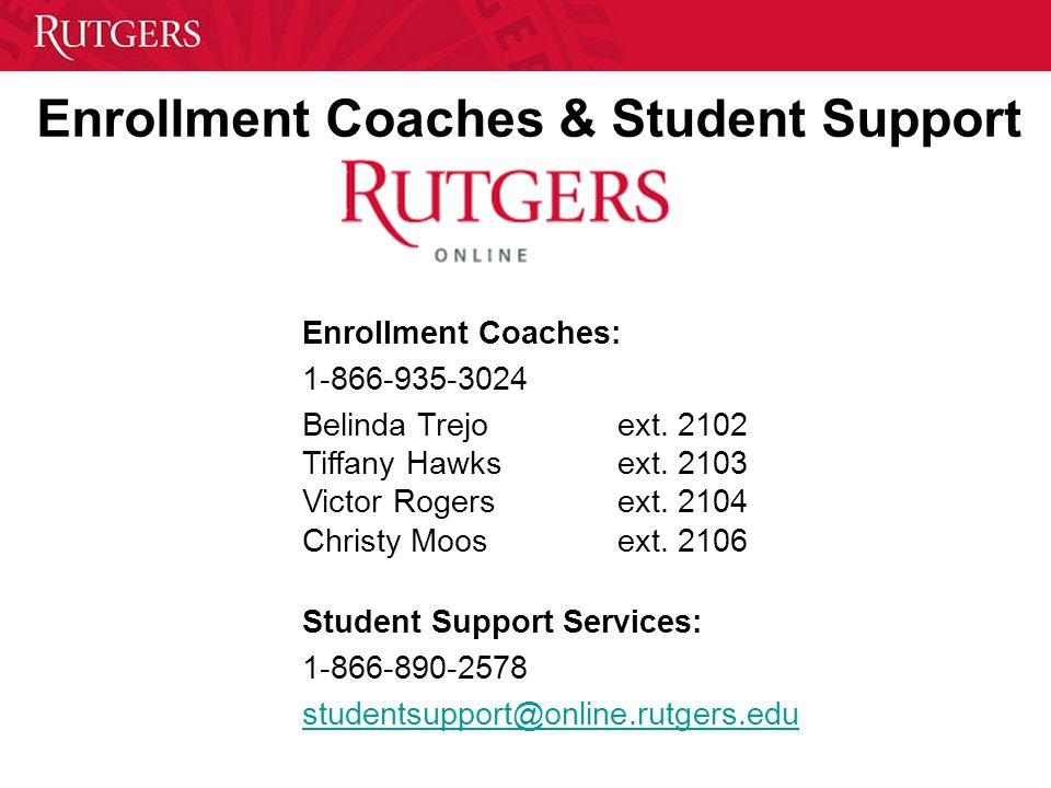 Enrollment Coaches & Student Support