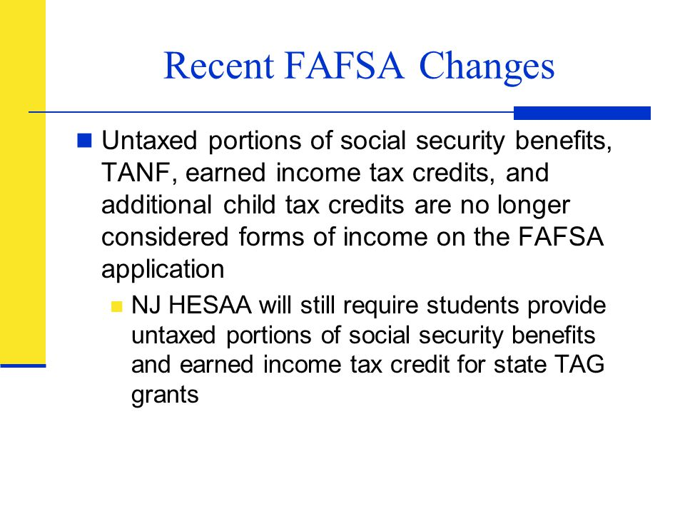 Recent FAFSA Changes