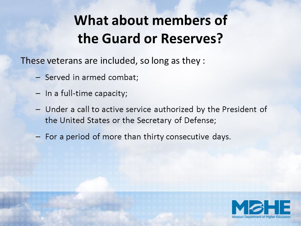 What about members of the Guard or Reserves
