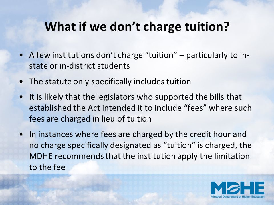 What if we don't charge tuition