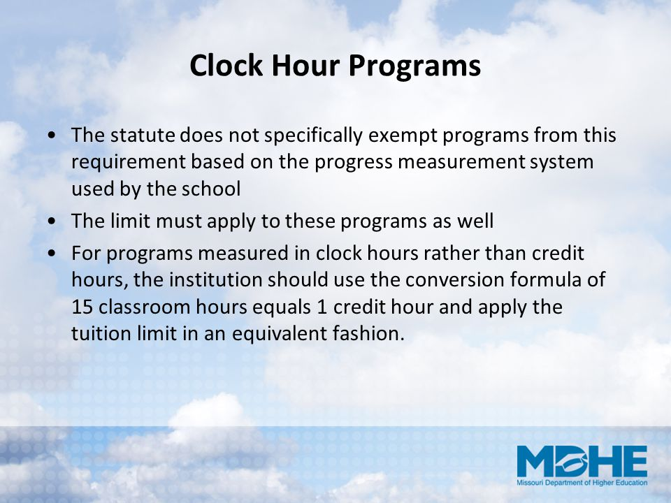 Clock Hour Programs