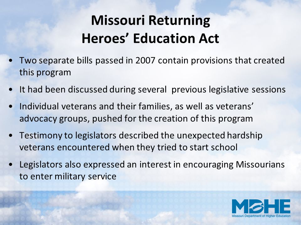 Missouri Returning Heroes' Education Act