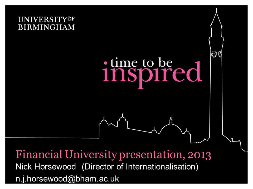 Financial University presentation, 2013