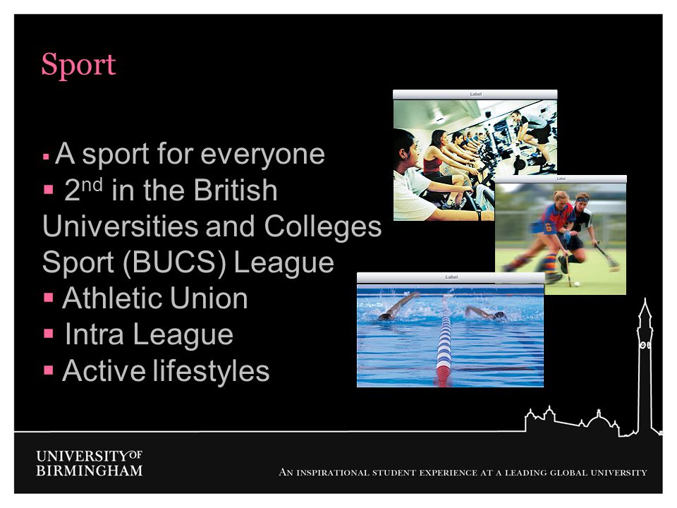 Sport 2nd in the British Universities and Colleges Sport (BUCS) League