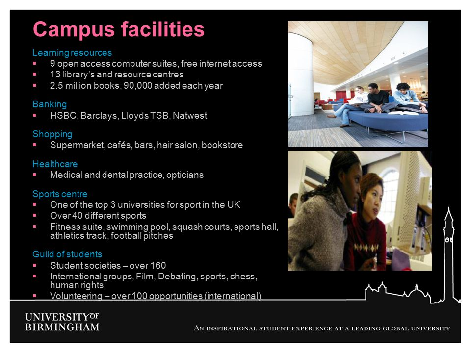 Campus facilities Learning resources
