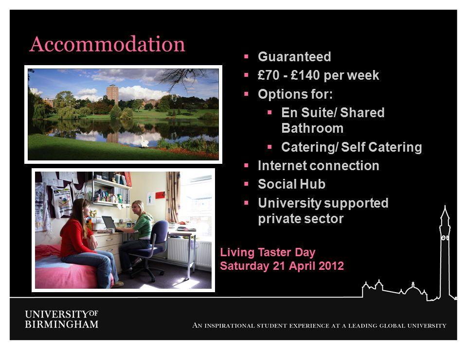 Accommodation Guaranteed £70 - £140 per week Options for:
