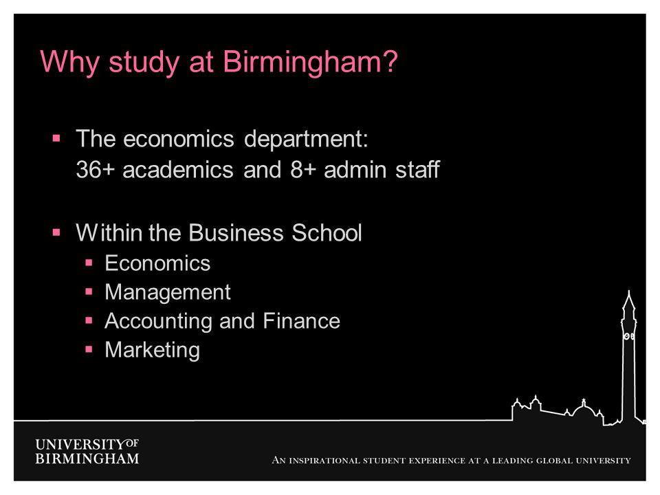 Why study at Birmingham