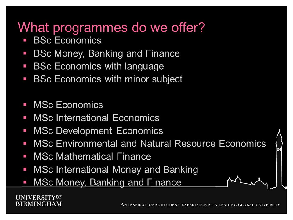 What programmes do we offer
