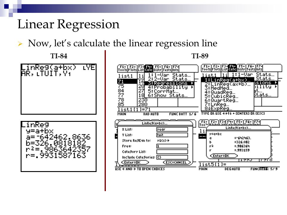 Linear Regression Now, let's calculate the linear regression line