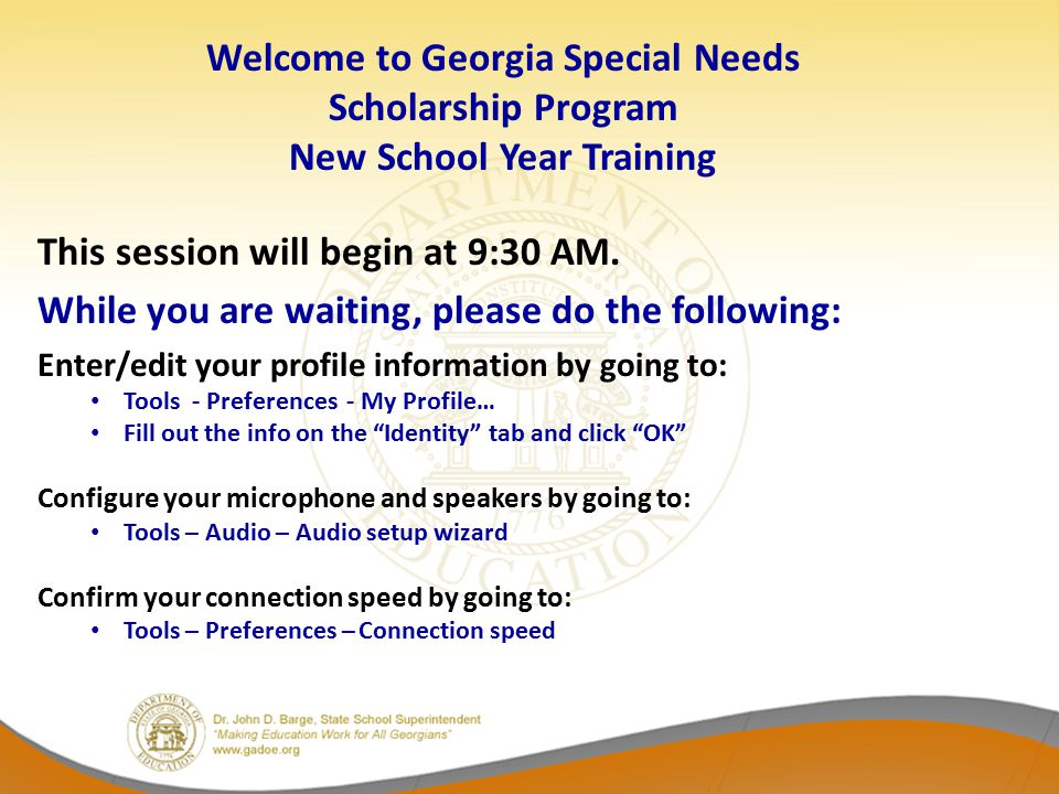 Welcome to Georgia Special Needs Scholarship Program