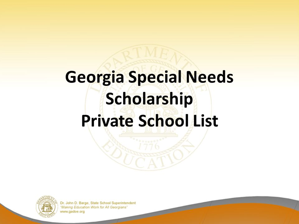 Georgia Special Needs Scholarship Private School List