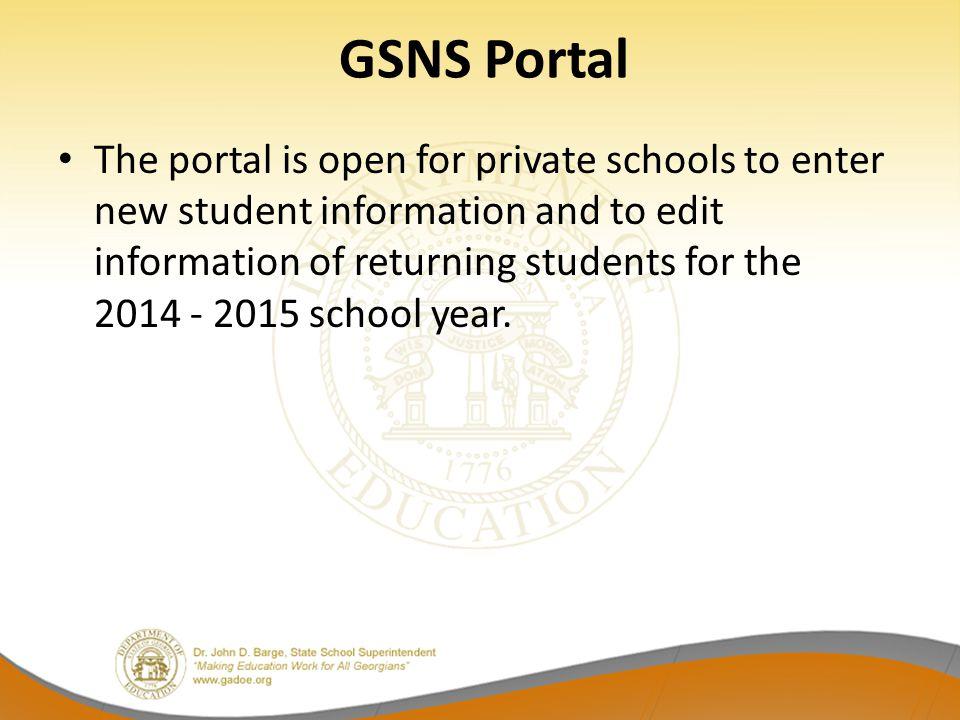 GSNS Portal
