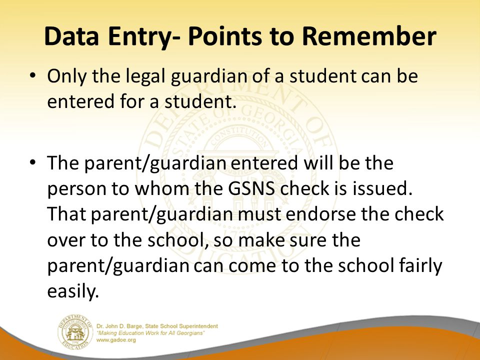 Data Entry- Points to Remember