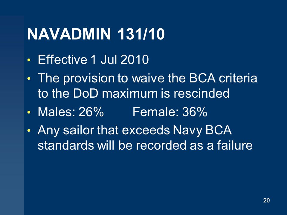 NAVADMIN 131/10 Effective 1 Jul 2010