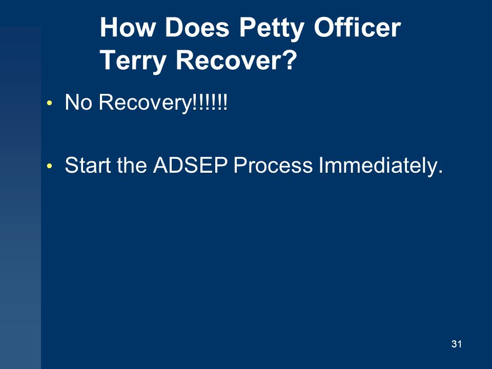 How Does Petty Officer Terry Recover
