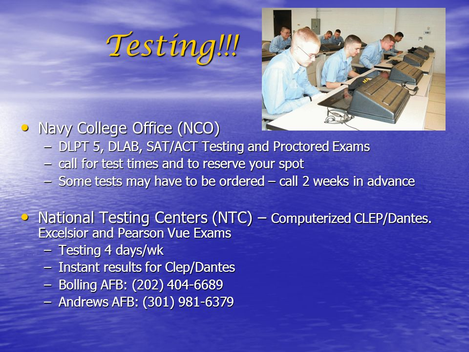 Testing!!! Navy College Office (NCO)