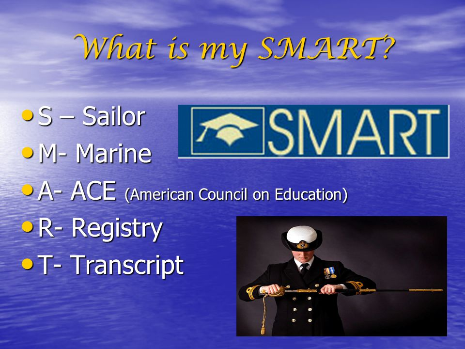 What is my SMART S – Sailor M- Marine
