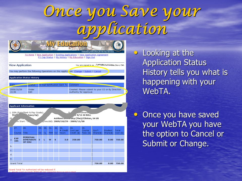 Once you Save your application