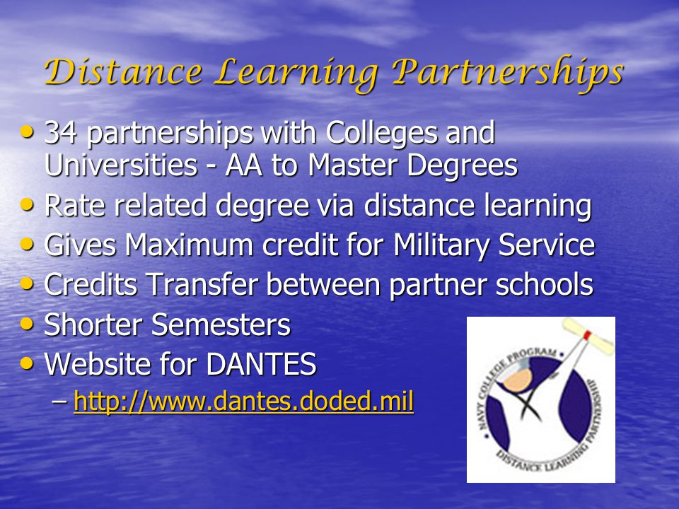 Distance Learning Partnerships