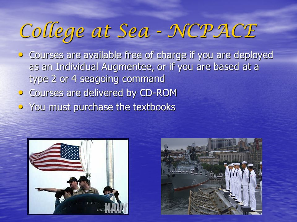 College at Sea - NCPACE