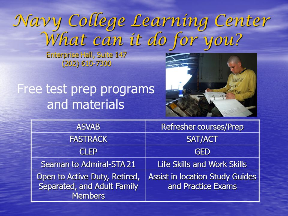 Navy College Learning Center What can it do for you