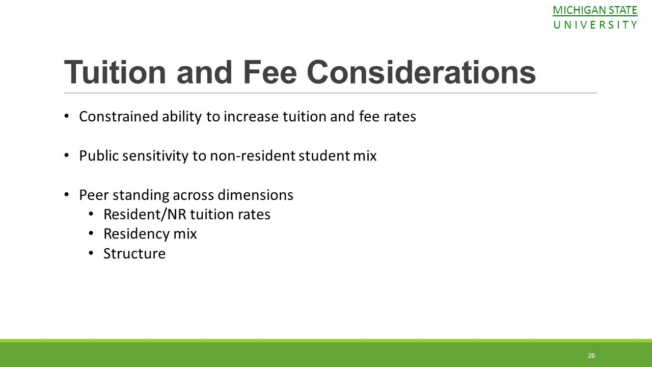 Tuition and Fee Considerations
