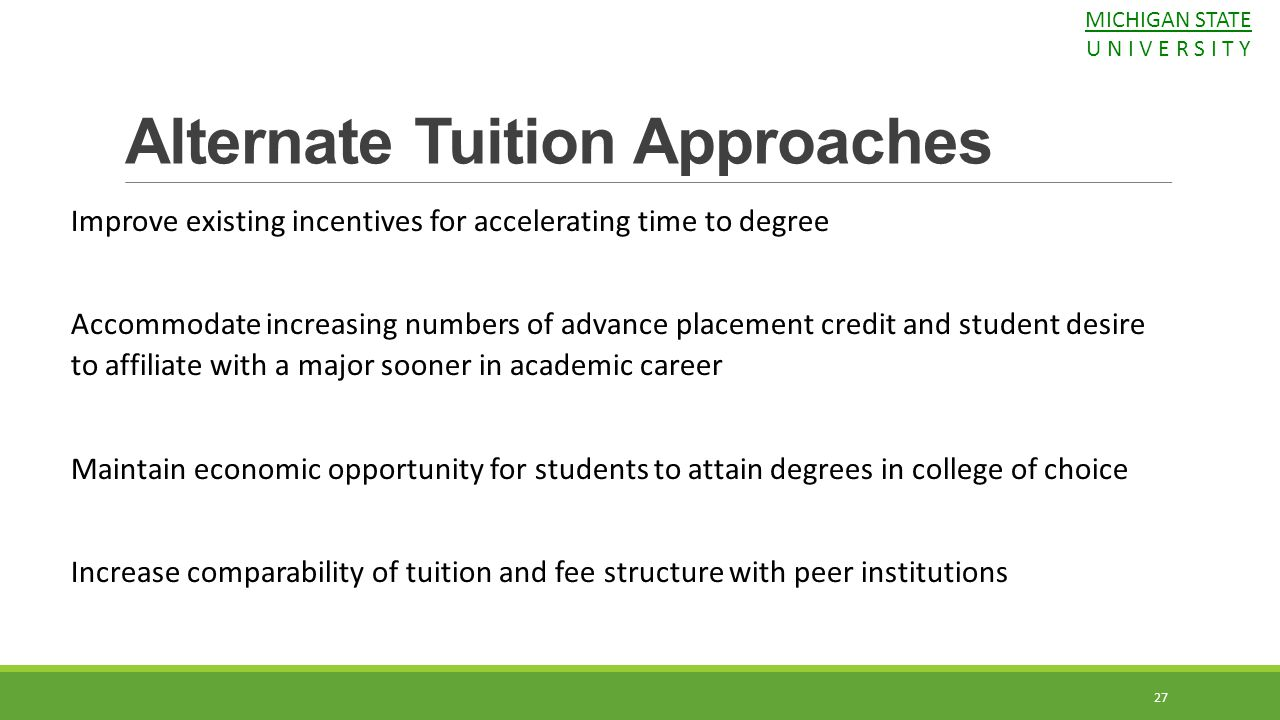 Alternate Tuition Approaches