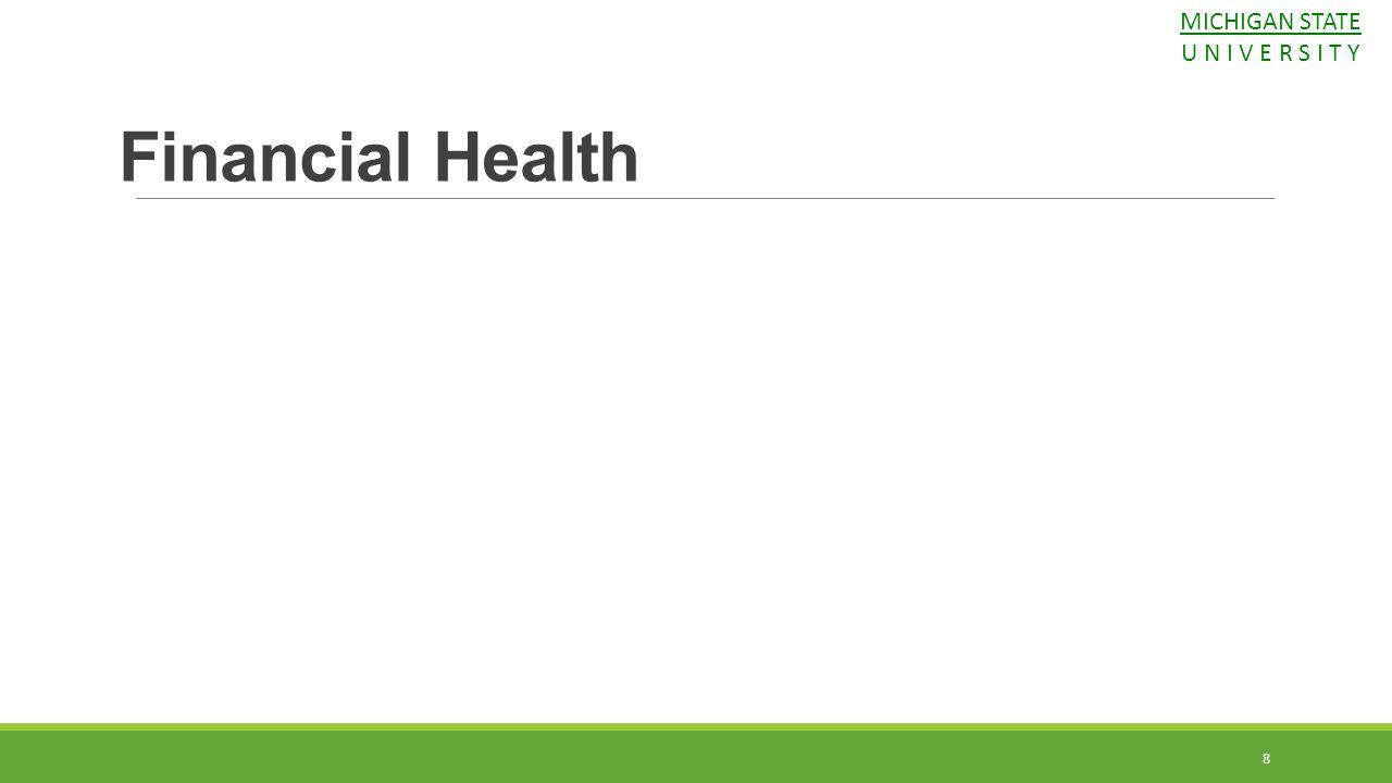 MICHIGAN STATE U N I V E R S I T Y Financial Health