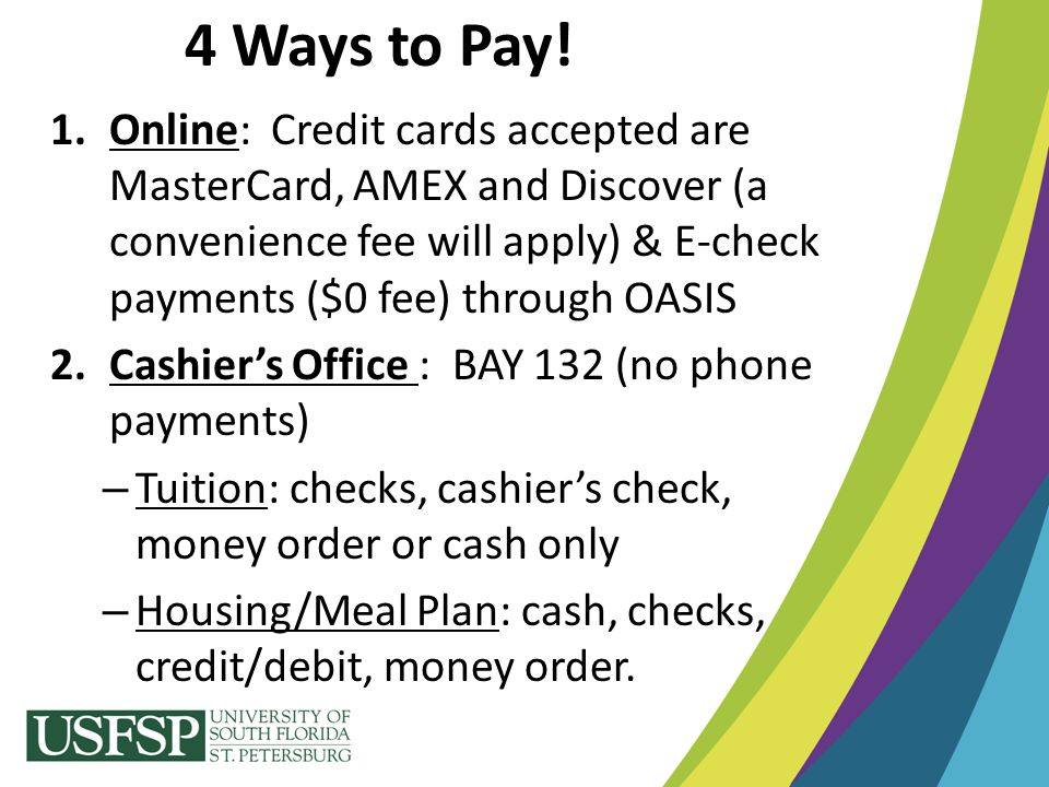 4 Ways to Pay!