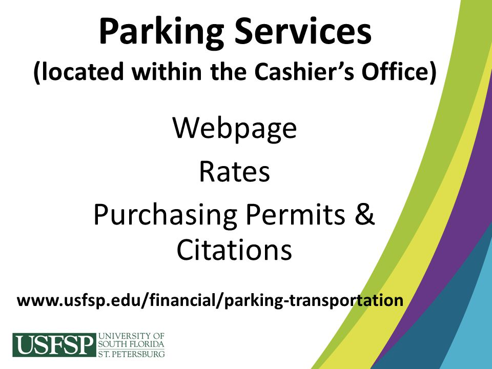 Parking Services (located within the Cashier's Office)