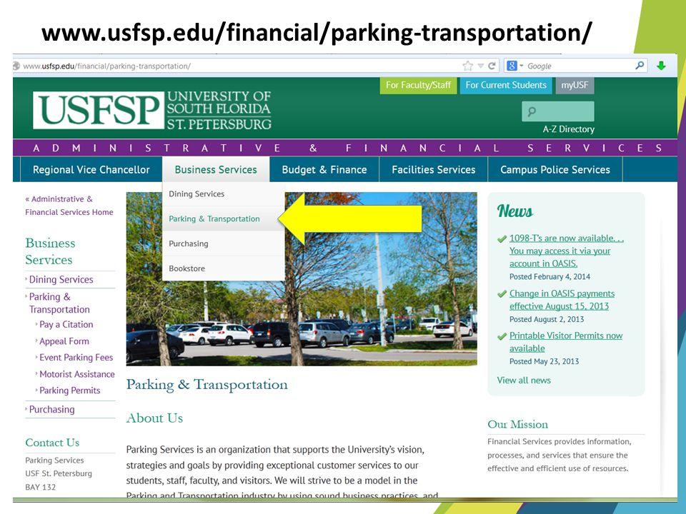 www.usfsp.edu/financial/parking-transportation/