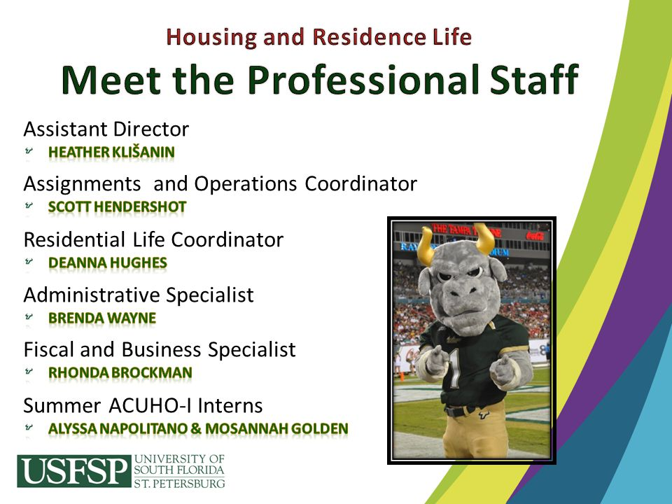 Housing and Residence Life Meet the Professional Staff