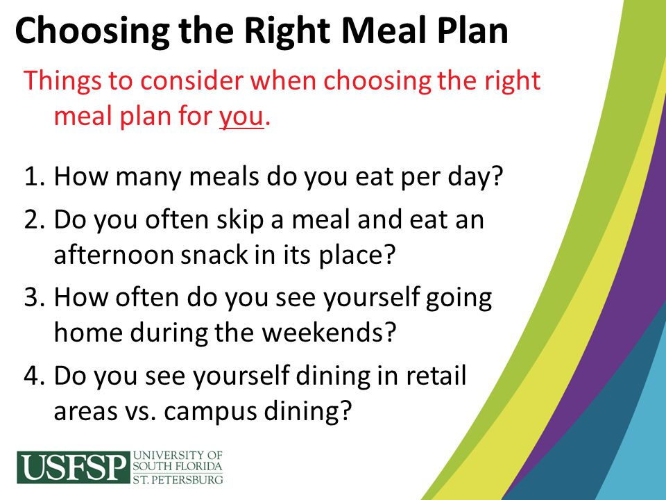 Choosing the Right Meal Plan