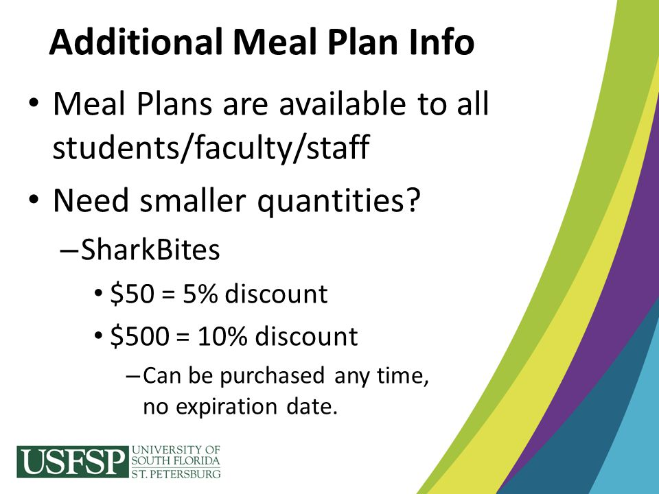 Additional Meal Plan Info