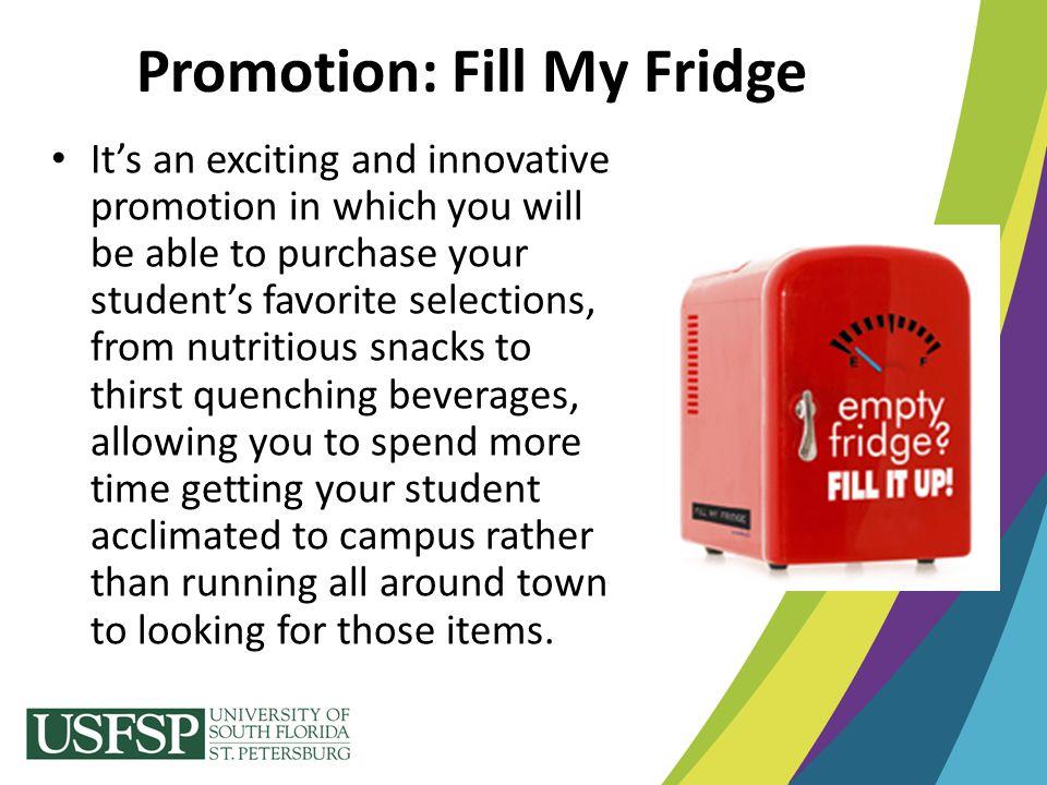 Promotion: Fill My Fridge