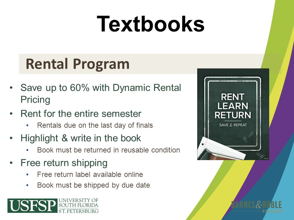 Textbooks Rental Program Save up to 60% with Dynamic Rental Pricing