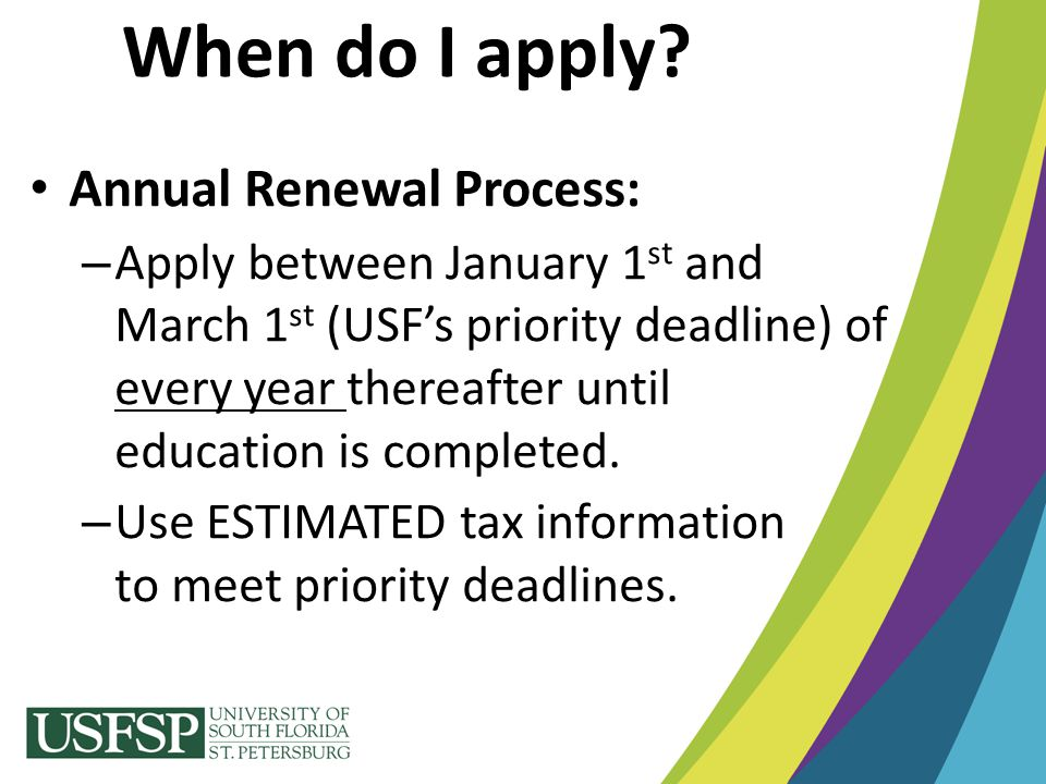 When do I apply Annual Renewal Process: