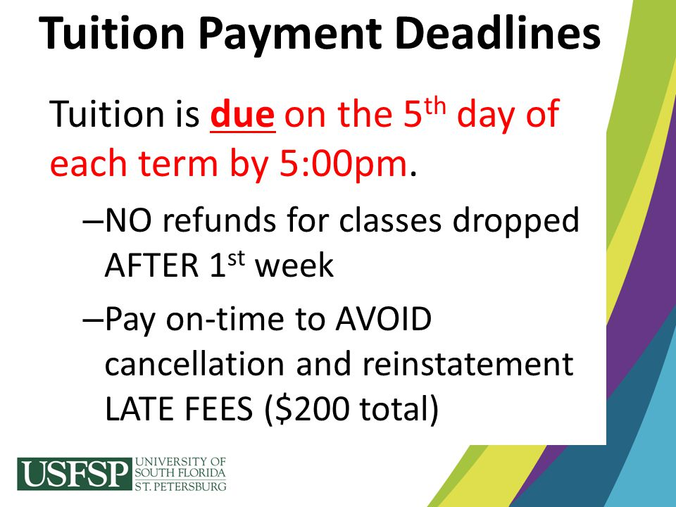 Tuition Payment Deadlines