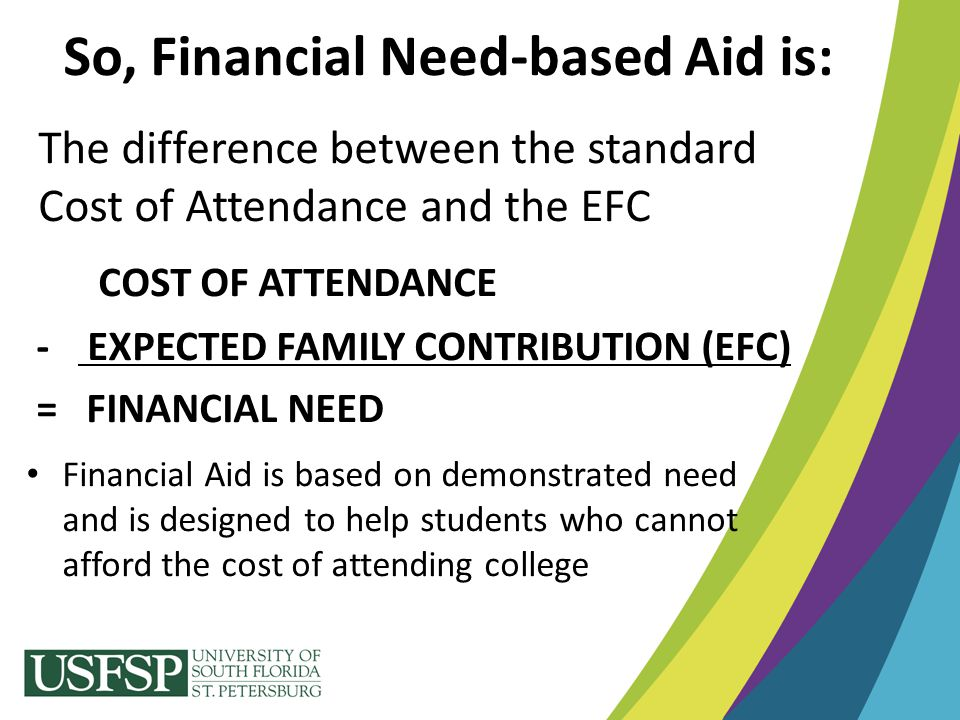 So, Financial Need-based Aid is:
