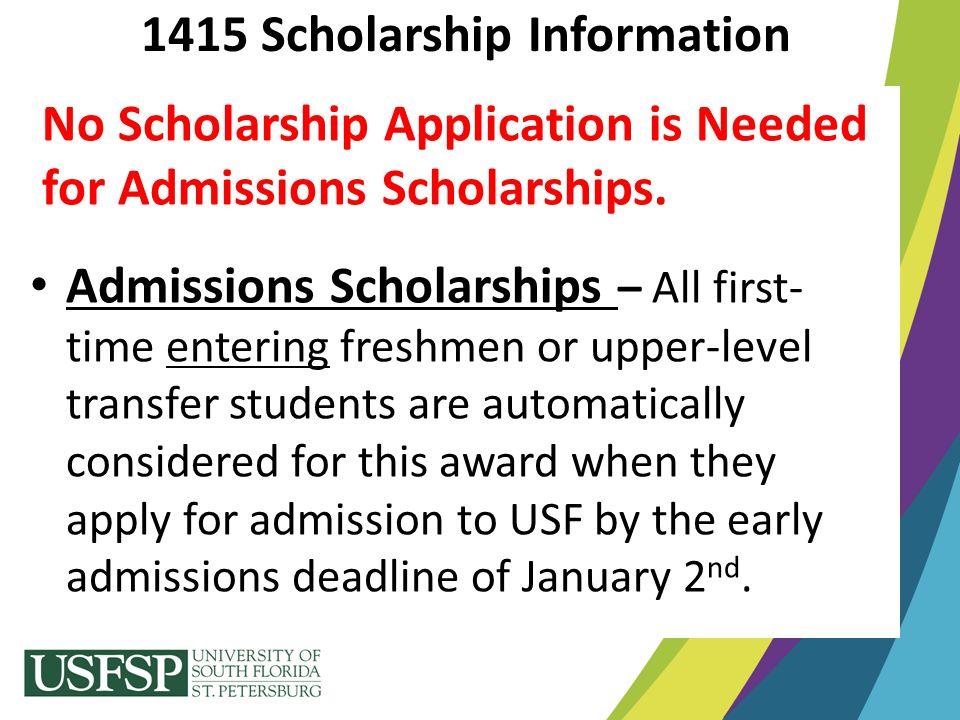 1415 Scholarship Information