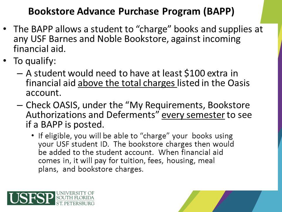 Bookstore Advance Purchase Program (BAPP)