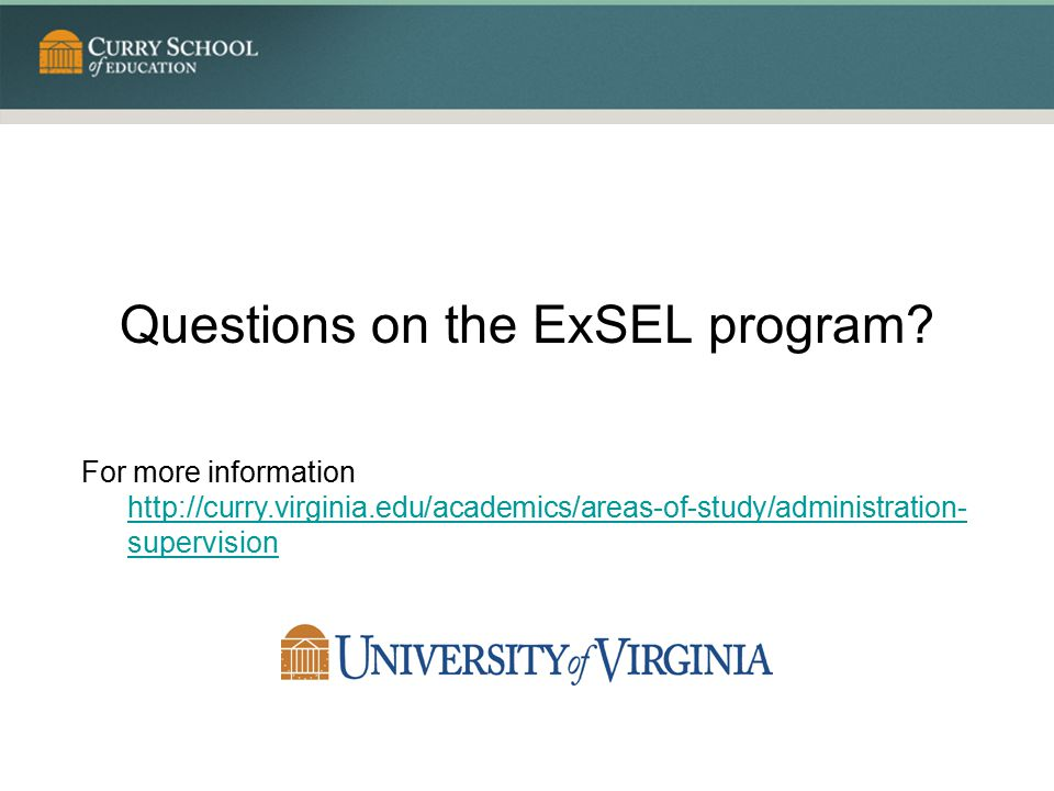 Questions on the ExSEL program
