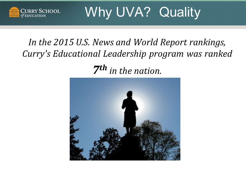 Why UVA Quality 7th in the nation.