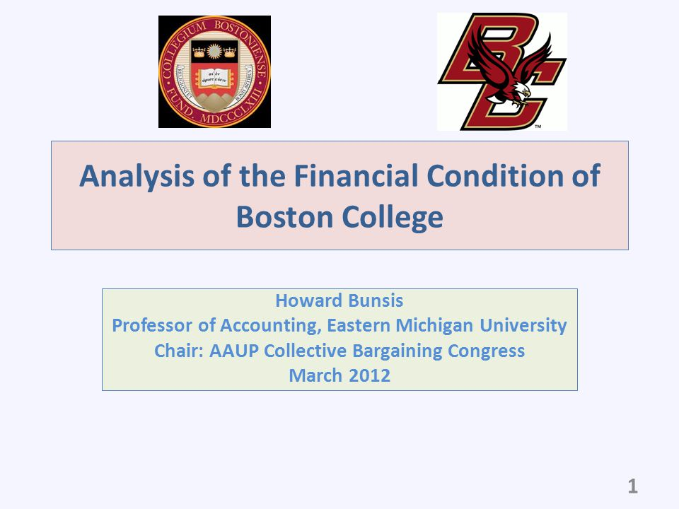 Analysis of the Financial Condition of Boston College
