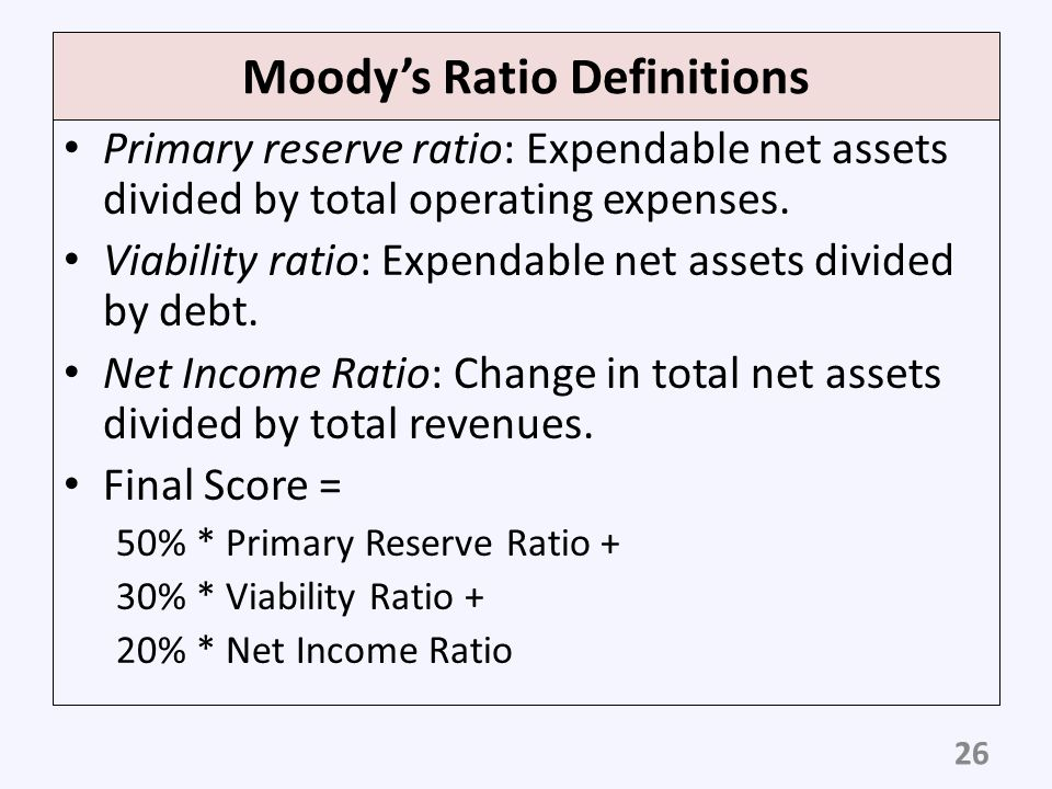 Moody's Ratio Definitions